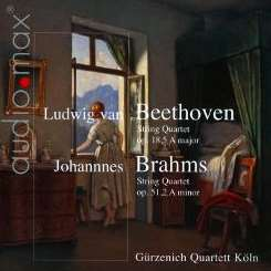 Gürzenich Quartett Köln - Beethoven: String Quartet Op. 18/5 A major; Brahms: String Quartet Op. 51/2 A minor album mp3